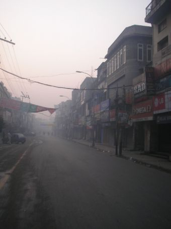 Amritsar, early morning, on our way to the golden temple