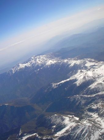Albert flies over the pyrenees.