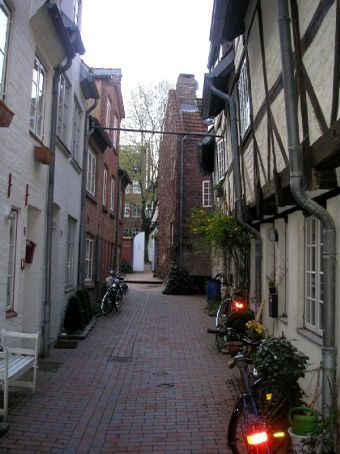 The narrow streets of Lubeck
