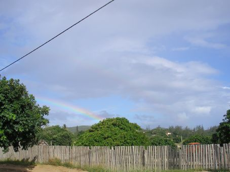 We arrived in our little holiday place, with the auspcious sign of a rainbow