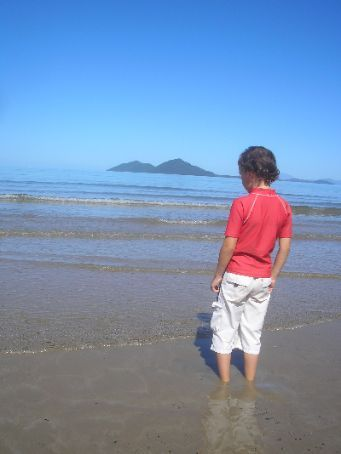 Jett contemplating Dunk Island