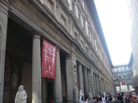 Outside of the Uffizi