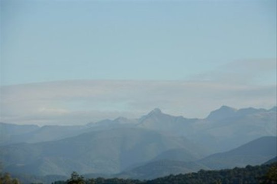 Pyrenees mountains, on the road home.