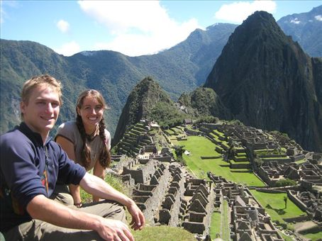 Kyle and I with the famous Machu Picchu site in the background.
