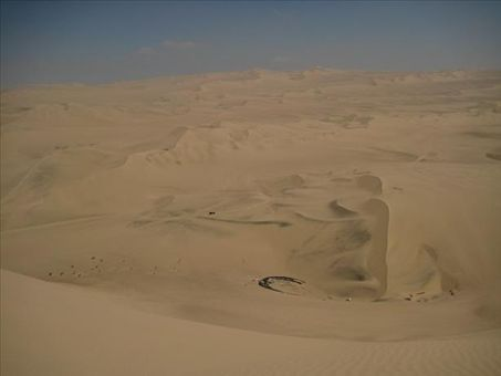 A view out over the dunes of Hucachina.