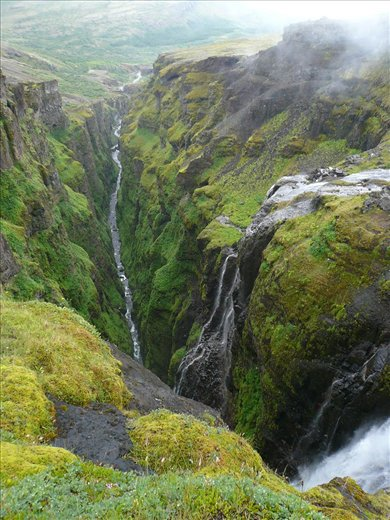 More of the amazing Glymur waterfall and gorge