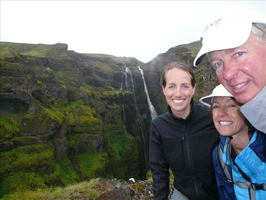 The amazing Glymur waterfall