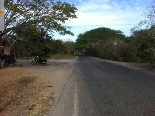 Where Charlie got a flat tire south of San Blas.