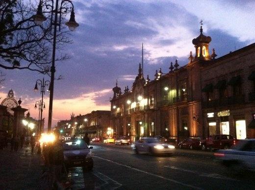 Nightfall in Morelia.