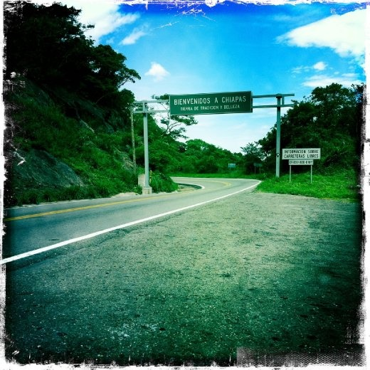 Entering Chiapas, the southernmost state in Mexico! Hells yeah!