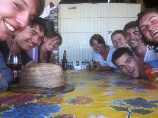 The group I went to Hierve el Agua with. Tlaudas and beer? Yes please!