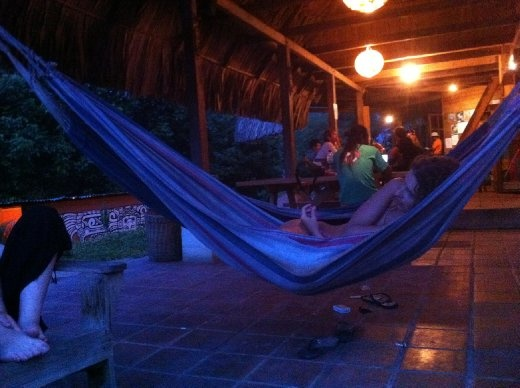 The hangout at the Zephyr Lodge in Lanquin. Sweet place to stay!