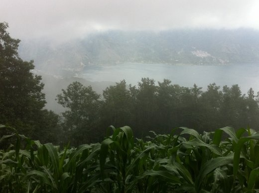 Everything looked silvery in the mist and rain, so even though we couldn't see far, what we could see was beautiful!