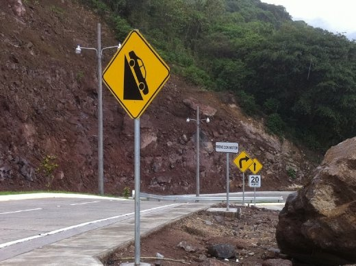 Some steep roads around here... although I don't know what's going on with the
