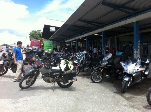 Border crossing from Costa Rica into Panama. The