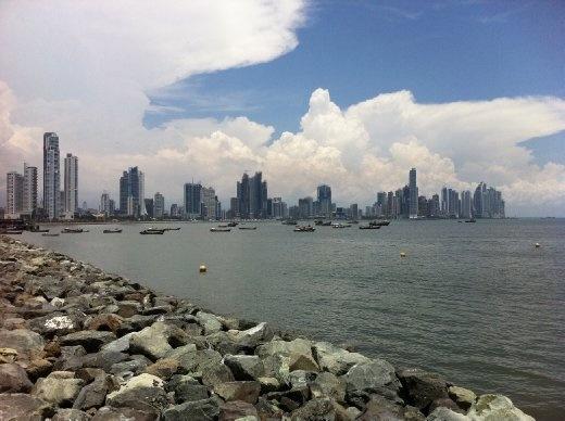 View of the Panama City skyline.