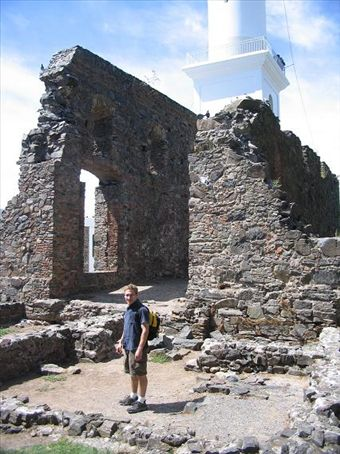 Colonia was a lovely little town with cobble-stoned streets and sweet-smelling air. It used to be a smuggler´s port to bring goods in from Brazil. These are some ruins in the Puerto Viejo area of town.