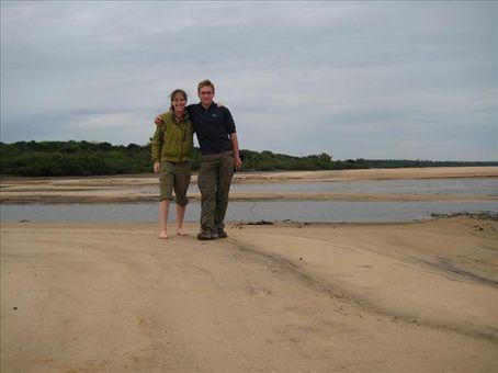 Kyle and me on the beach in PN el Palmar.