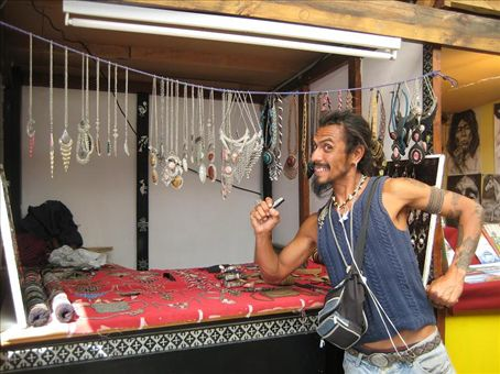 My good friend Frederico, an artisan I met in Ushuaia. Doesn't he look like a real-life Jack Sparrow?