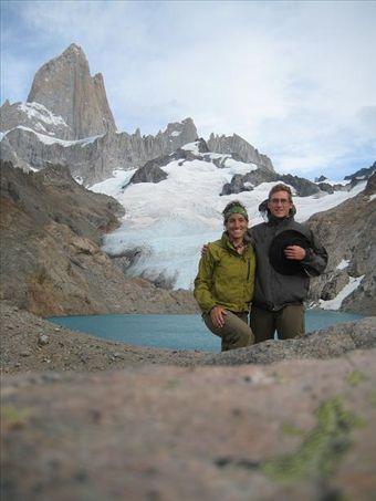 Kyle and I at Laguna de las Tres at the base of Fitz Roy