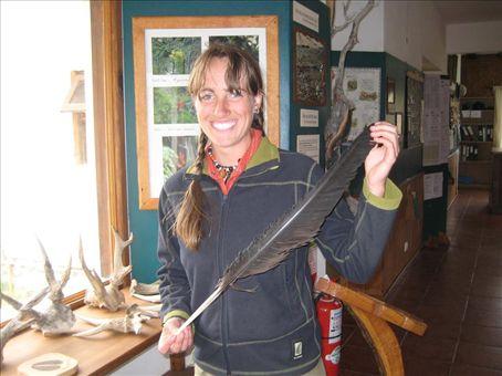 Andean Condor feather at the ranger station for Parque Nacional los Glaciares