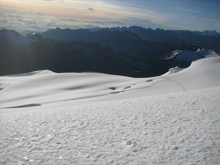 The view during our descent from the summit.