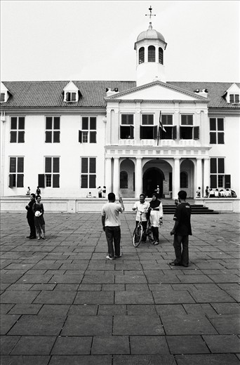 The Museum of Fatahillah with its visitors in Kota Tua, the old city of Jakarta.