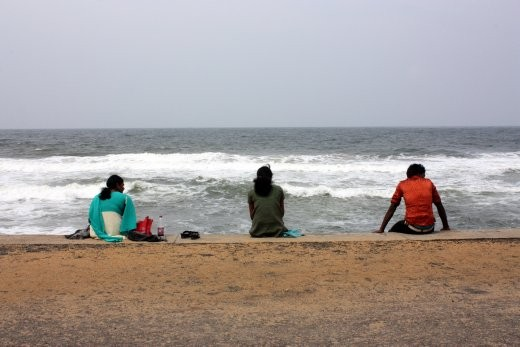 These three young people were captured enjoying the seabreeze at Galle Face beach after a long week.