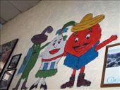 Tacos No Mas' decorative wall. A tasty burrito joint in Xela.: by alyssa_schwartz, Views[229]