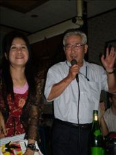 Anita (English teacher) with the head honcho Takaba Tanetoshi--Superintendent of Education, getting his groove on.: by alyssa_schwartz, Views[410]