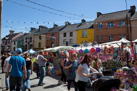 Gathering day at the Puck Faire draws families and vendors to the streets of Killorglin eager to experience Ireland's Oldest Faire.