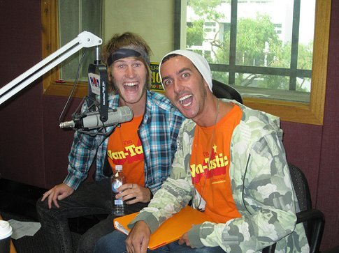 Hamish and Adam being interviewed at Hot FM in Cairns. What a way to kick off their Van-Tastic Adventure!