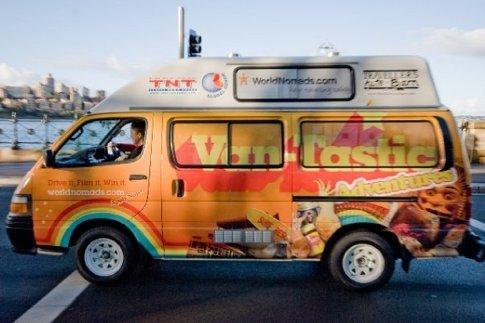 Geoff the van-tastic van takes it's first spin around sydney