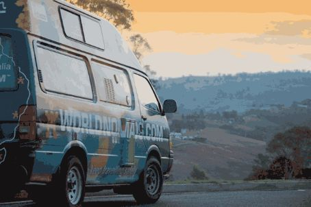Travelling Dan takes the van through a Bega sunset.   Mmm... cheesy!