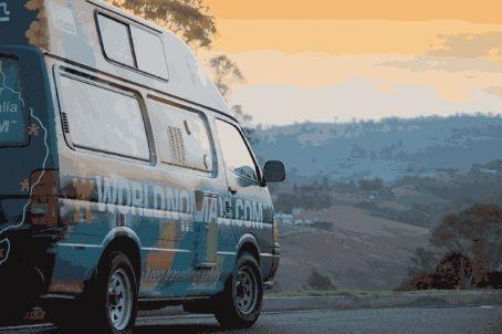 Travelling Dan takes the van through a Bega sunset.   Mmm... cheesy!