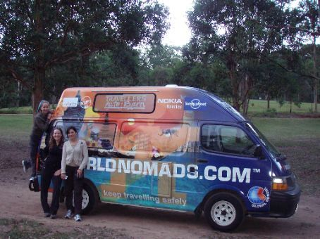 The Lost Girls with the Ambassador van