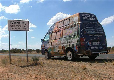 Ivanhoe, NSW. Population 350 + 2 World Nomads