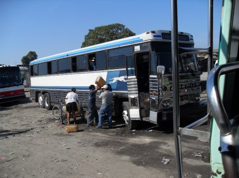 Luxury travel Guatemalan style. BTW, that´s the first class bus, my bus was nothing like as luxurious as that...