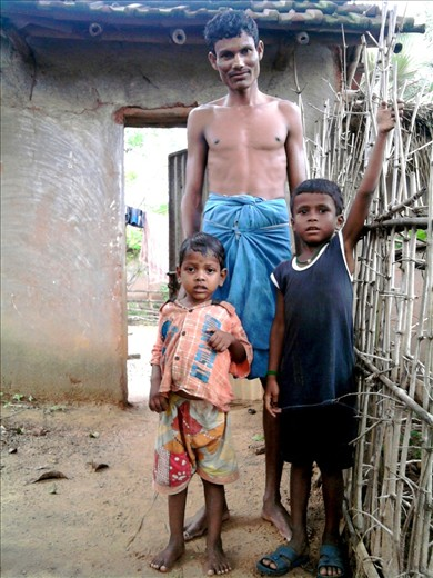 In rural India, families are happy despite of lack of basic necessities