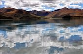 A turquoise river near Lhasa. The reflection of the clouds was irresistible.: by amritatejasvi, Views[171]