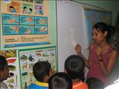 Geshani teaching children at the child care centre set up by the Southern Tsunami Trust: by amsa-ihp-2005, Views[715]