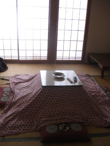 Oh Kotatsu (heater under the table). I would've frozen to death last night if it wasn't for you.