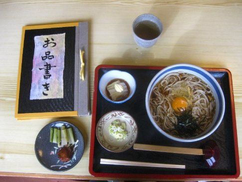 Soba noodles. A Togakushi speciality.