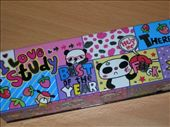 This pencil case belongs to another student. Look at what the panda getting punched is saying.... Ah, unintentional profanities on kids school supplies. I love it Suwon, South Korea: by amy_palfreyman, Views[538]