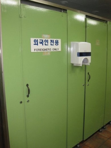 Oooh, a 'foreigners only' toilet!  Don't ask why... I've no idea.  Daegu, South Korea