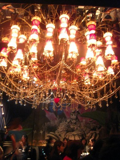 Alice's also had some pretty fancy chandeliers...
