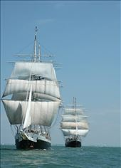 This is my Brazil ship, Lord Nelson (in the foreground) with Tenacious in back