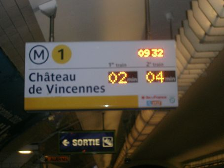 a good train service (look trains come every two minutes on each line!)