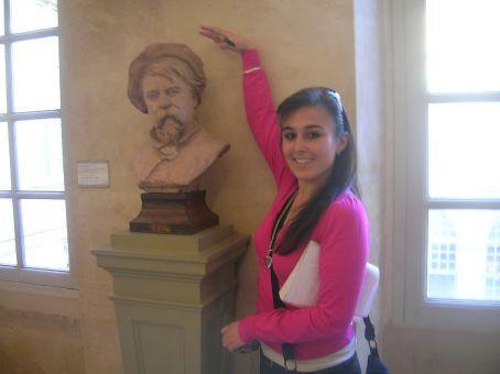 tall statute in art gallery
