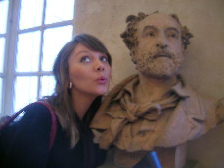 sexy statute in art gallery
